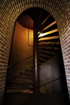 The 175-step spiral staircase of the Assateague Lighthouse. The lighthouse has reopened to the public after a $1.5 million restoration project...