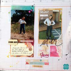 Laura de nuestro DT para el nuevo #retoplayscrap914 #layout #plusone #amytangerine #scrapbooking #playscrap Amy Tangerine, Layouts, Polaroid Film, Cover, Books, Models, Livros, Livres, Book