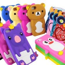 For Apple iPhone 5 Cute 3D Animal Design Soft Silicone Gel Body Skin Cover Case