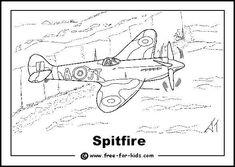 Spitfire over White Cliffs of Dover
