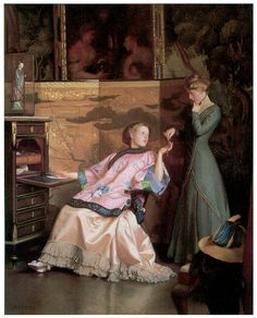 The New Necklace by William McGregor Paxton - The New Necklace ...