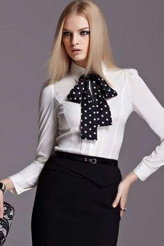 Moonbasa Pop Dots Pleated Formal Shirt