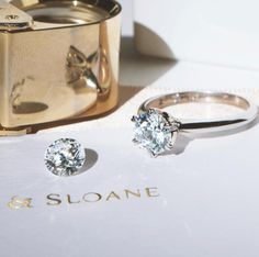 The Sloane Setting. Naveya & Sloane engagement ring, made to order in Auckland, New Zealand. Naveya And Sloane, Wedding Engagement, Wedding Bands, Fine Jewelry, Jewelry Making, Jewellery, Gemstone Engagement Rings, Custom Jewelry Design, Diamond Gemstone