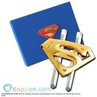 Superman Returns vergulden geldclip - Koppen.com
