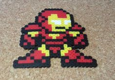 The Avengers Perler Sprites Ironman Thor by DCBPerlerSprites