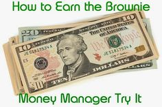 Lesson plan on how to earn the Brownie Girl Scout Money Manager Try It badge