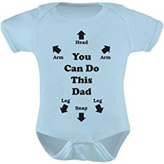 You Can Do This Dad - Funny Father's Day Gift for New Dads Cute Baby Bodysuit