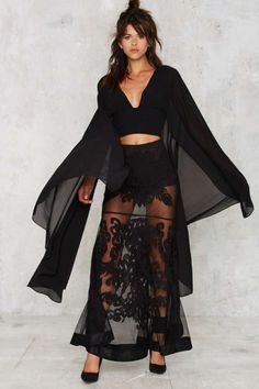 Nasty Gal Kimono Possible Cape Top - Do East   Best Sellers   Cropped   Shirts + Blouses   Tops