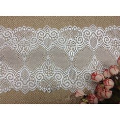 6-1/4' wide stretch polyester lace trims garment skirt cloth material DIY craft supply fashion accessory by 1 yard >>> Want additional info? Click on the image.