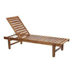 Bain de soleil en acacia massif huilé - Palma - Bains de soleil et transats-Transats et chaises longues-Jardin-Par pièce - Décoration intérieur - Alinea