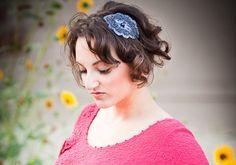 Charcoal Beaded  Womens Headband by bethanylorelle on Etsy, $25.00