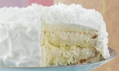 Halekulani Hotel Coconut Cake.... This fabulous cake came to us from the majestic Halekulani Hotel on Waikiki Beach in Honolulu, Hawaii, where it has been the hotel's signature cake for years. It's light sponge cake is cut into three layers, then pasted together with pastry cream. Read more: http://americanprofile.com/slideshows/15-classic-christmas-cakes/#ixzz2BkStdEJ1