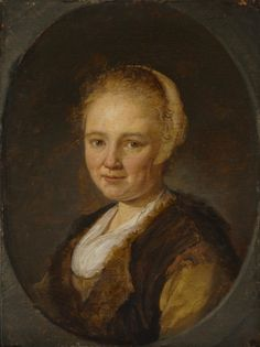 """""""A Young Woman"""" by Gerritt Dou. 1640, oil on wood. In the collection of The Cleveland (OH) Museum of Art. It is unknown if this is a portrait of a real person or if it is a tronie. Tronies represent more general types of people, designed as beautiful images rather than accurate likenesses of specific person."""