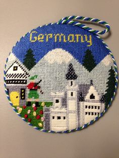 "Silver Needle ""Germany"" needlepoint ornament - my attempt at beading..."