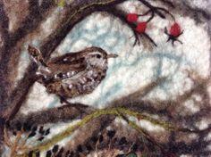 Lou Tonkin Art & Graft 2013 Gorran, United Kingdom Fabric Birds, Felt Fabric, Felt Animals, Cute Animals, Bird Pictures, Handmade Felt, Felt Art, Felt Crafts, Textile Art