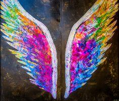 angel wings Art Print by BohoVan Travels - Modern Travel Photogra - X-Small Angel Wings Painting, Angel Wings Art, Angel Wings Wall Decor, Angel Art, Tribal Tattoos, Tattoos Skull, Celtic Tattoos, Dreamcatcher Tattoos, Sleeve Tattoos