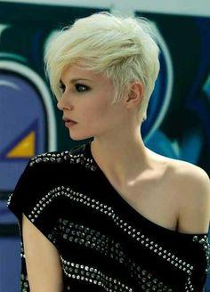 Sexy Blonde Short Hair