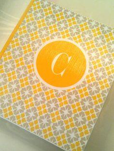 Yellow and Grey Recipe Binder Great Bridal Shower Gift by Slimdigm, $35.00