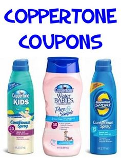 Sunscreen Coupons: $3.00 off 2 Coppertone + more! #coupon #thefrugalgirls