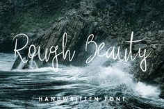 Ad:  Textured Font $14 Rough Beauty Script by Vectalex on @creativemarket