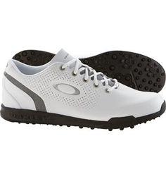 Oakley Men's Ripcord Spikeless Golf Shoes (White/Black)