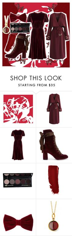 """""""9th Day of Christmas: Nine Ladies Dancing"""" by indigo-life ❤ liked on Polyvore featuring Chicwish, Valentino, Chloé and Syna"""