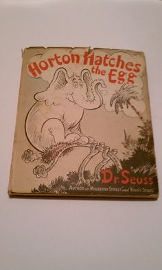 Horton Hatches The Egg 1940  Dr Seuss by Vintage4sure on Etsy, $90.00