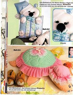 Foto: Baby Pillows, Album, Amelie, Lunch Box, Patches, Teddy Bear, Diy, Sewing, Children
