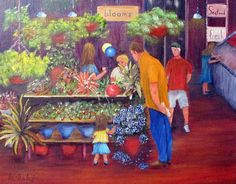Reading Terminal Market Flowers Painting  - Reading Terminal Market Flowers Fine Art Print