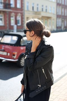 PERFECTO PERFECT | Fiona from thedashingrider.com wears  Edited Biker Jacket, Vila Culottes, a bag from & Other Stories and pointy Heels from Asos #ootd #whatiwore