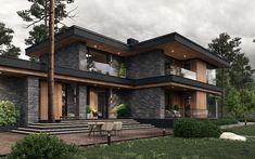 Modern Exterior House Designs, Modern Villa Design, Dream House Exterior, Modern Architecture House, Dream House Plans, Architecture Design, Flat House Design, Pavilion Architecture, House Exteriors