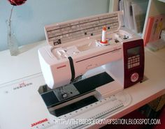 tutorial for recessed sewing machine into table.  Sewing Studio Up-Do | made by a brunnette