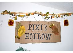 Tinkerbell Party Theme - Pixie Hollow Sign