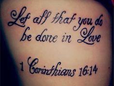 Bible Verse Tattoo