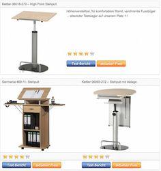 Stehpult Rednerpult Lesepult - Testsieger - Vergleich in Tabelle