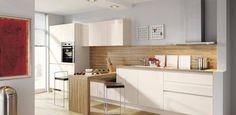 Handleless Kitchens: Our handless option - handleless designs and clean lines for kitchens with perfectly balanced proportions and a soothing tranquility Handleless Kitchen, Kitchen Showroom, Minimal Kitchen, Kitchens, Table, Bologna, High Gloss, Furniture, Magnolia