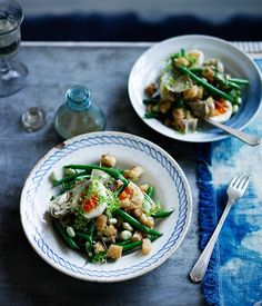 Australian Gourmet Traveller recipe for artichoke salad with green beans, egg and anchovy dressing.