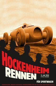 Deco racing poster – gotta love it. – Sport is lifre Vintage Racing, Vintage Ads, Vintage Posters, Vintage Style, Poster Ads, Car Posters, Sports Posters, Grand Prix, Course Automobile