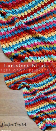 #LarksfootBlanket #FreeCrochetPattern