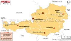 Map of Airports in Austria
