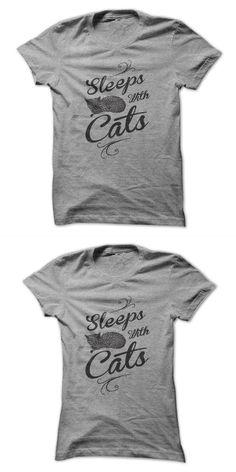 Cat Nation T Shirt Sleeps With Cats #1 (black) #cat #nap #t #shirt #cat #t #shirt #australia #i #rescue #cats #t #shirt #t #shirt #cat #bed
