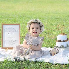 Japanese Babies, Baby Birthday, Baby Photos, First Birthdays, Flower Girl Dresses, Wedding Dresses, Kids, Instagram, Decoration