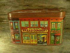 Holy shit you guys! Stopping with this cuz I can't believe I actually found one of these for sale :O - Merry Christmas xoxoxo VINTAGE BREAD BOX Tin: The Plain & Fancy Bread Company