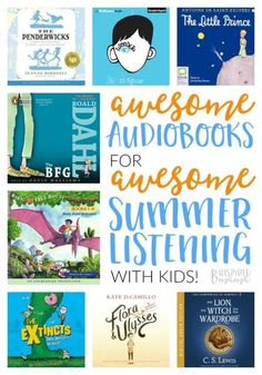 The Best Audiobooks for Kids - to Make Summer Learning Easy Peasy and Fun - at B-Inspired Mama #ad