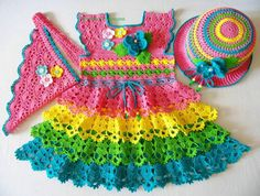 CHILD CROCHET DRESS: models and step by step! ~ ✁ CK Crafts