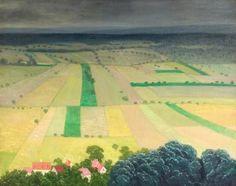 """""""Orage Venant, Les Andelys"""" by Félix Vallotton (1865 - 1925)"""