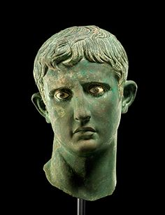 The Meroë Head of Augustus, Bronze head from an over-life-sized statue of Augustus, likely made in Egypt, circa 27 - 25 BCE. Excavated in Sudan, 1910. © The Trustees of the British Museum.