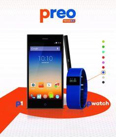Teknosa's Private Label Preo.  Smartphone P1 and Pwatch.