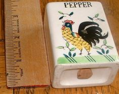 rooster and roses | Pepper shaker by ucagco Rooster and Roses early provincial ...
