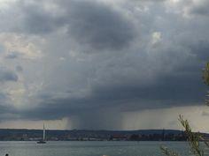 #regen #bodensee #konstanz #gewitter Clouds, Outdoor, Thunderstorms, Rain, Outdoors, Outdoor Games, Outdoor Life, Cloud